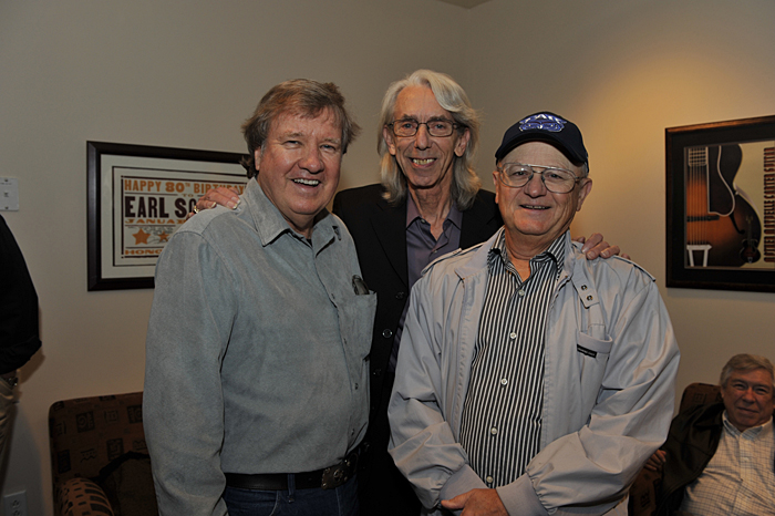Buzz Cason, Wayne and Charlie McCoy at the Country Music Hall of Fame, Wayne's induction into the Nashville Cats